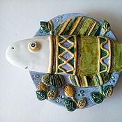 """Тарелки ручной работы. Ярмарка Мастеров - ручная работа Тарелка керамическая  """"Рыбка"""" (средняя). Handmade."""