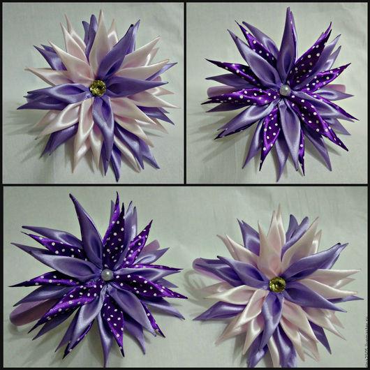 Детская бижутерия ручной работы. Ярмарка Мастеров - ручная работа. Купить Ободки с цветком канзаши. Handmade. Ободок для волос