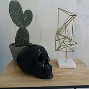 Изделия ручной работы. Ярмарка Мастеров - ручная работа Чёрный череп. Handmade.