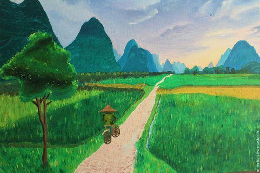 Пейзаж ручной работы. Ярмарка Мастеров - ручная работа. Купить Монгол. Handmade. Пейзаж, горы, монголия, масло, картина в подарок