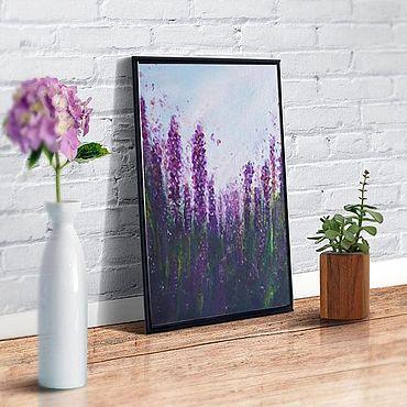 Картины и панно ручной работы. Ярмарка Мастеров - ручная работа Картина лаванда картина цветы фиолетовые цветы картина прованс. Handmade.