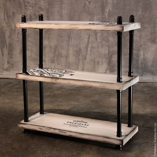 Мебель ручной работы. Ярмарка Мастеров - ручная работа. Купить ЭТАЖЕРКА ШЕРИДАНС. Handmade. Белый, консоль, мебель из массива, сосна