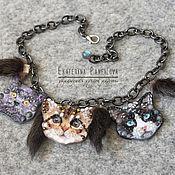 Украшения handmade. Livemaster - original item Kittens. Handmade.