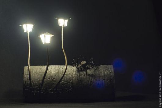 Освещение ручной работы. Ярмарка Мастеров - ручная работа. Купить Ночник Lanterna palustra. Handmade. Серый, грибы, сказка, медь