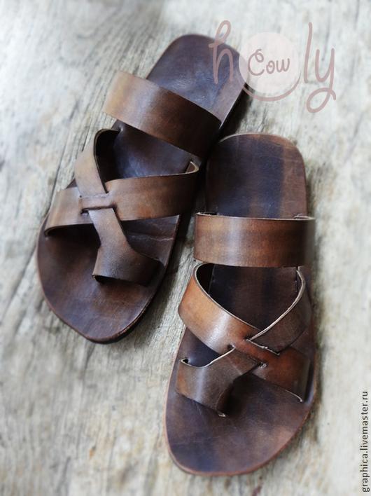 """Обувь ручной работы. Ярмарка Мастеров - ручная работа. Купить Кожаные сандалии """"Gladiator"""". Handmade. Коричневый, сандалии кожаные"""