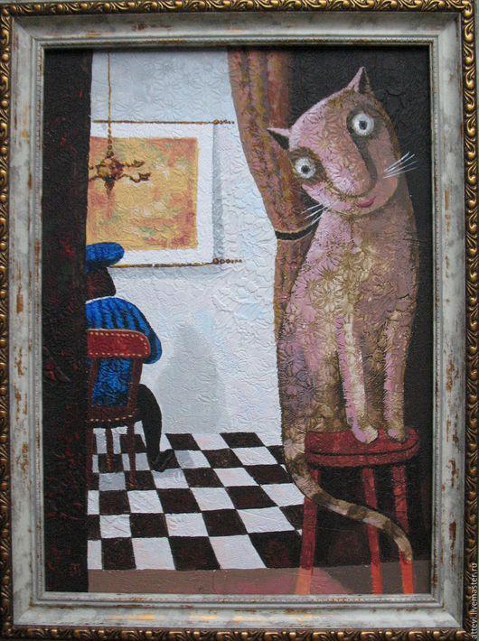 Символизм ручной работы. Ярмарка Мастеров - ручная работа. Купить воспоминание о Вермеере. Handmade. Комбинированный, кот, котик, котенок, коты