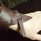 Аксессуары ручной работы. Ярмарка Мастеров - ручная работа Кожаный браслет с именем владельца. Handmade.