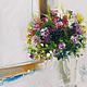 Картины цветов ручной работы. Ярмарка Мастеров - ручная работа. Купить С нежностью.... Handmade. Утро, букет