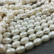 Материалы для творчества handmade. Livemaster - original item The natural rice pearl 8-9mm AA white (art. 2838). Handmade.