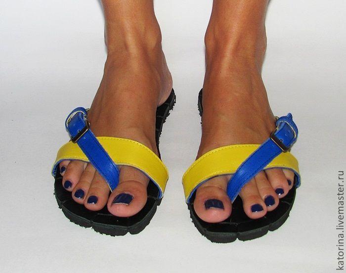 """Обувь ручной работы. Ярмарка Мастеров - ручная работа. Купить Кожаные сандалии """"Настроение"""". Handmade. Босоножки, шлепки, обувь на заказ"""