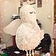 Сказочные персонажи ручной работы. Ярмарка Мастеров - ручная работа. Купить Матрешка Ангел, арт. № 053. Handmade. Белый