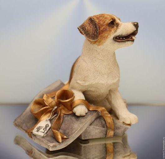 Винтажные предметы интерьера. Ярмарка Мастеров - ручная работа. Купить Собака Джек Рассел терьер Леонардо Англия 21. Handmade.