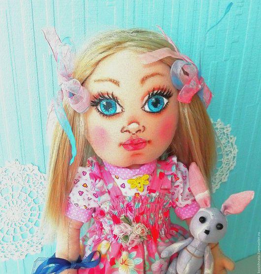 Коллекционные куклы ручной работы. Ярмарка Мастеров - ручная работа. Купить Маргарита. Текстильная куколка. Handmade. Розовый, кукла текстильная