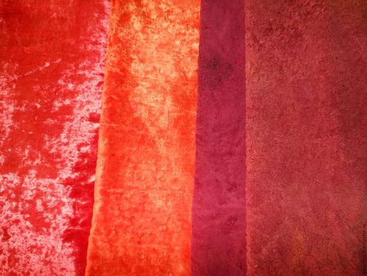 Шитье ручной работы. Ярмарка Мастеров - ручная работа. Купить Плюш витажный красный. Handmade. Рыжий, плюш для мишек тедди