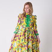 """Одежда ручной работы. Ярмарка Мастеров - ручная работа Платье """"Цветы на поляне"""" П-26. Handmade."""