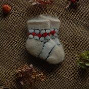 Аксессуары handmade. Livemaster - original item Socks for newborn babies woolen fluffy. Handmade.