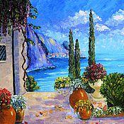 """Картины и панно ручной работы. Ярмарка Мастеров - ручная работа """"Средиземноморье: У моря"""" Картина маслом. Handmade."""
