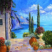"Картины и панно handmade. Livemaster - original item ""By the sea"" Oil painting Mediterranean. Handmade."