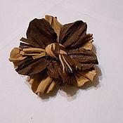 Украшения handmade. Livemaster - original item Leather brooch