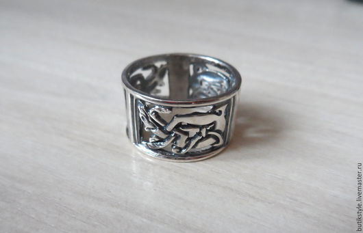 """Кольца ручной работы. Ярмарка Мастеров - ручная работа. Купить Серебряное кольцо """"Самураи"""". Handmade. Серебро 925 пробы"""