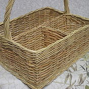 Для дома и интерьера handmade. Livemaster - original item Serving basket with compartments for plates, napkins, etc. Handmade.