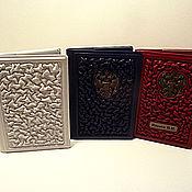 """Канцелярские товары handmade. Livemaster - original item Обложка на автодокументы """"Ваша величество"""", цветная кожа. Handmade."""