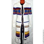 Одежда handmade. Livemaster - original item Hooded cardigan knit with fringed Boho. Handmade.