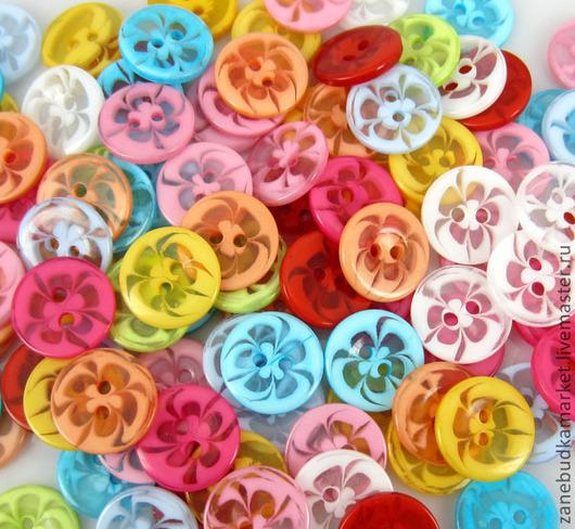 Шитье ручной работы. Ярмарка Мастеров - ручная работа. Купить Пуговицы пластиковые цветные полупрозрачные. Handmade. Пуговицы, пуговицы для игрушек