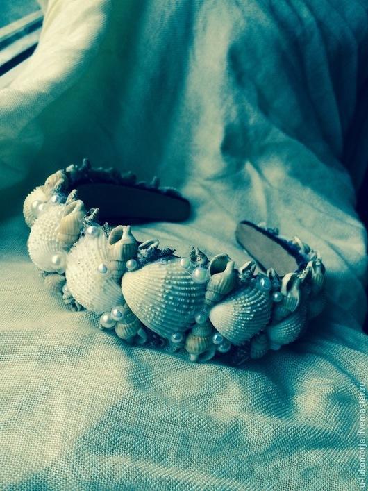 """Диадемы, обручи ручной работы. Ярмарка Мастеров - ручная работа. Купить Ободок """"Морская диадэма"""". Handmade. Ободок для волос"""