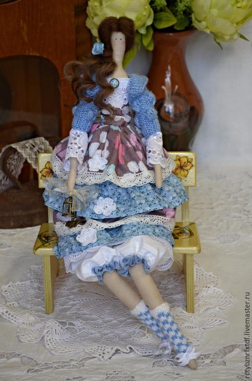Куклы Тильды ручной работы. Ярмарка Мастеров - ручная работа. Купить Аврора интерьерная, текстильная кукла Тильда.. Handmade. Голубой