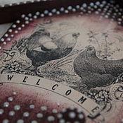 """Для дома и интерьера ручной работы. Ярмарка Мастеров - ручная работа Ключница, вешалка """"Петух с курочкой"""". Handmade."""