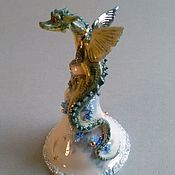 Для дома и интерьера ручной работы. Ярмарка Мастеров - ручная работа Колокольчик с дракончиком. Handmade.