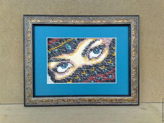 """Люди, ручной работы. Ярмарка Мастеров - ручная работа. Купить Картина бисером """"Взгляд"""". Handmade. Комбинированный, ручная, Вышивка бисером"""