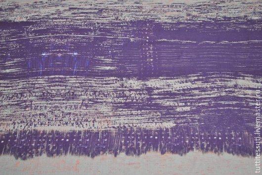 Шитье ручной работы. Ярмарка Мастеров - ручная работа. Купить Шелковый шифон 01-003-1681. Handmade. Сиреневый