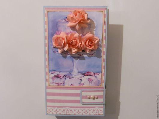 Открытки для женщин, ручной работы. Ярмарка Мастеров - ручная работа. Купить Шоколадница магнит на холодильник. Handmade. Розовый, подарок для девушки
