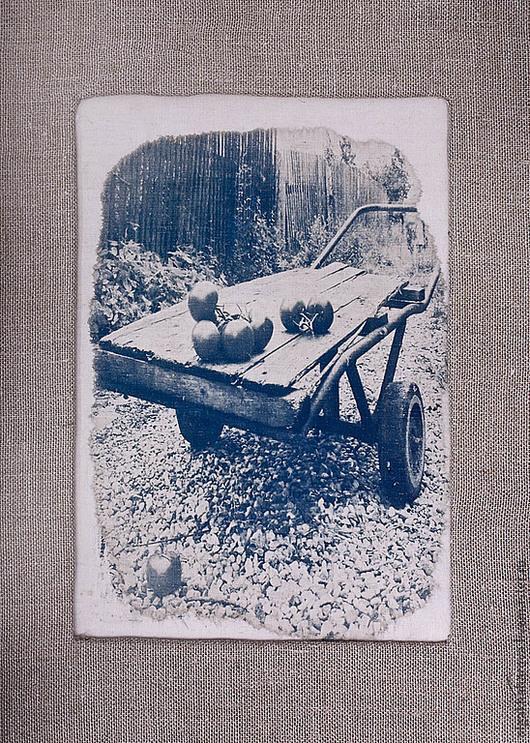 Фотокартины ручной работы. Ярмарка Мастеров - ручная работа. Купить фотография в текстильной раме. Handmade. Бежевый, фотография, цианотипия