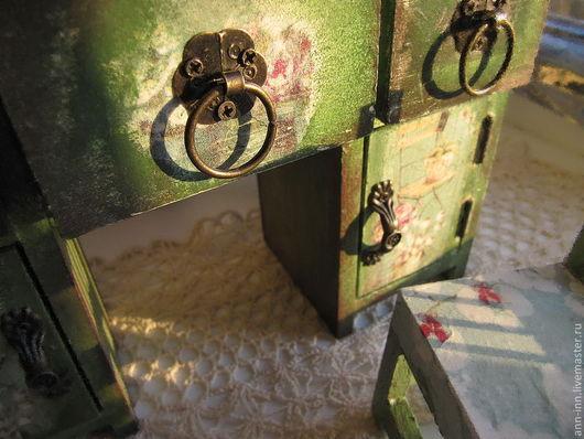 Комплекты аксессуаров ручной работы. Ярмарка Мастеров - ручная работа. Купить Мини-мебель в стиле vintage. Handmade. Тёмно-зелёный