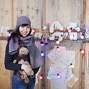 """Аксессуары ручной работы. Ярмарка Мастеров - ручная работа Шапка и шарф """"Черничный вечер"""". Handmade."""