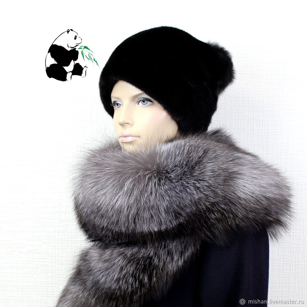 Fur detachable collar boa Fox fur.TC-304, Collars, Ekaterinburg,  Фото №1