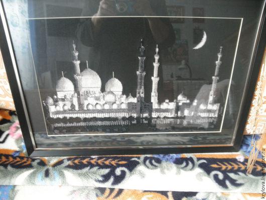 Репродукции ручной работы. Ярмарка Мастеров - ручная работа. Купить Мечеть шейха Заида. Handmade. Черный, белый, Мечеть