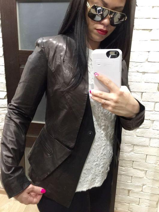 Верхняя одежда ручной работы. Ярмарка Мастеров - ручная работа. Купить Куртка кожаная чёрная. Handmade. Кожаная куртка, кожа