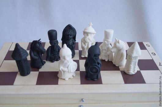 Настольные игры ручной работы. Ярмарка Мастеров - ручная работа. Купить Шахматы ручной работы.. Handmade. Разноцветный, шахматные фигуры
