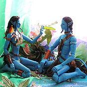 Куклы и игрушки ручной работы. Ярмарка Мастеров - ручная работа Куклы Аватар. Джейк и Нейтири. Handmade.