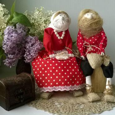 Куклы и игрушки ручной работы. Ярмарка Мастеров - ручная работа Домовой и Домаха домашний оберег. Handmade.