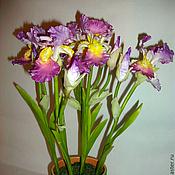 Цветы и флористика ручной работы. Ярмарка Мастеров - ручная работа Ирисы - моя керамическая флористика. Handmade.