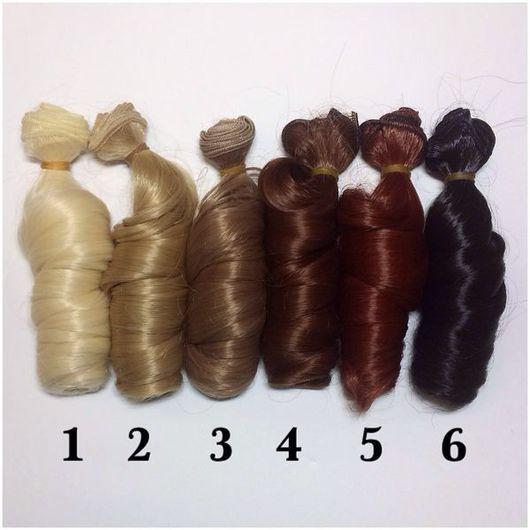 """Куклы и игрушки ручной работы. Ярмарка Мастеров - ручная работа. Купить № 1,2,6 НЕТ! Трессы для кукол """"Локоны"""". Handmade."""