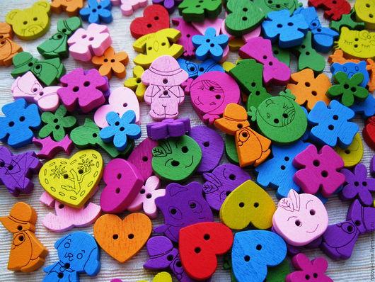 деревянные пуговки сердечки, деревянные пуговицы цветочки, деревянные пуговицы дети,деревянные пуговицы мишки, деревянные пуговицы собачки,пуговицы деревянные для скрапа, пуговицы деревянные микс