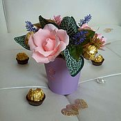 Цветы и флористика ручной работы. Ярмарка Мастеров - ручная работа Букет на 8 марта, на день рождения, воспитателю. Handmade.