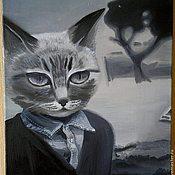 """Картины и панно ручной работы. Ярмарка Мастеров - ручная работа Картина  """"Кот"""". Handmade."""