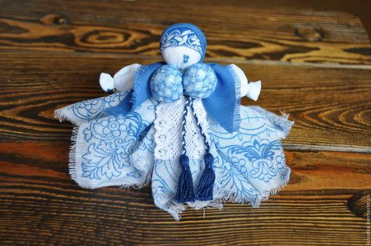 Народные куклы ручной работы. Ярмарка Мастеров - ручная работа. Купить Вепсская обережная куколка (капустка). Handmade. Голубой